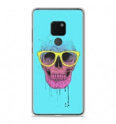 Coque en silicone Huawei Mate 20 - BS Skull glasses