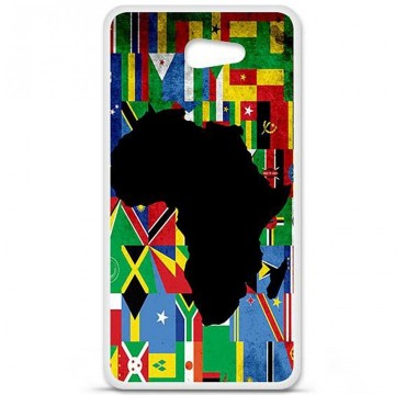 Coque en silicone pour Sony Xperia M5 - Drapeau Afrique