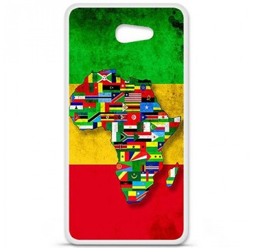 Coque en silicone pour Sony Xperia M5 - Drapeau Africa Unite