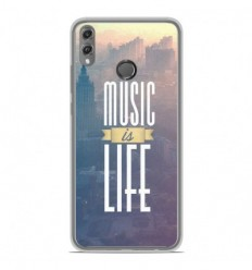 Coque en silicone Huawei Honor 8X - Music is life