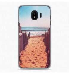 Coque en silicone Samsung Galaxy J4 Plus 2018 - Chemin de plage
