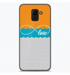 3721f34ee52d96 Coque en silicone Samsung Galaxy J6 Plus 2018 - Love Orange ...