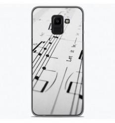 Coque en silicone Samsung Galaxy J6 Plus 2018 - Partition de musique