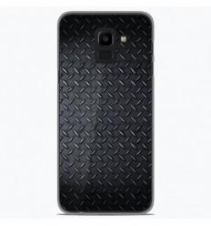 Coque en silicone Samsung Galaxy J6 Plus 2018 - Texture metal