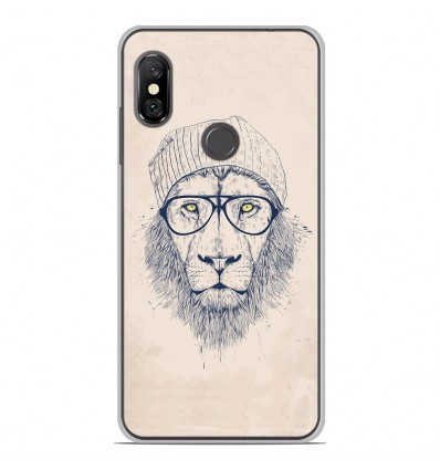 Coque en silicone Xiaomi Redmi Note 6 / Note 6 Pro - BS Cool Lion