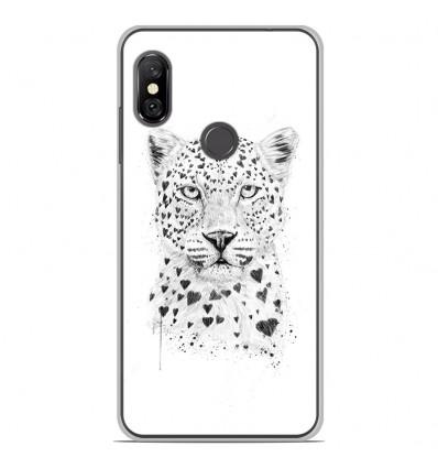 Coque en silicone Xiaomi Redmi Note 6 / Note 6 Pro - BS Love leopard