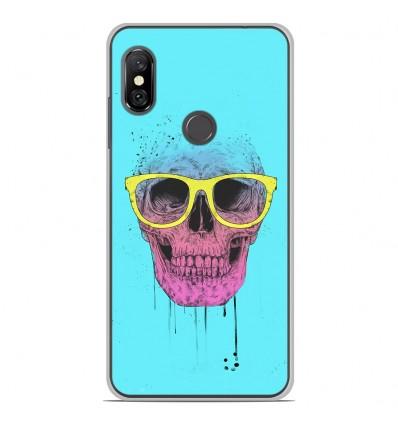 Coque en silicone Xiaomi Redmi Note 6 / Note 6 Pro - BS Skull glasses