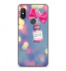 Coque en silicone Xiaomi Redmi Note 6 / Note 6 Pro - Love noeud rose