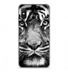 Coque en silicone Xiaomi Redmi Note 6 / Note 6 Pro - Tigre blanc et noir