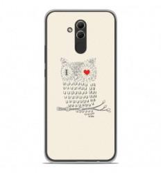 Coque en silicone Huawei Mate 20 Lite - I Love Hiboux