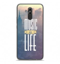 Coque en silicone Huawei Mate 20 Lite - Music is life