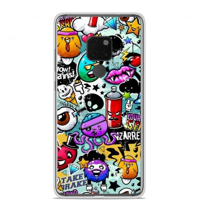 Coque en silicone Huawei Mate 20 X - Graffiti 2