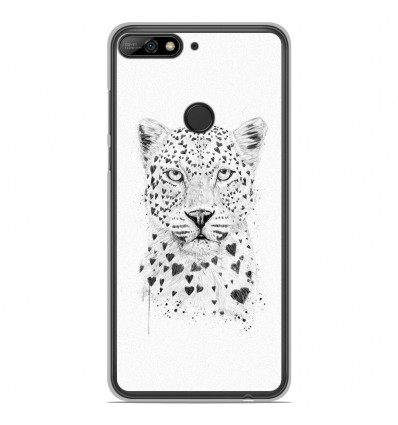 Coque en silicone Huawei Honor 7C - BS Love leopard