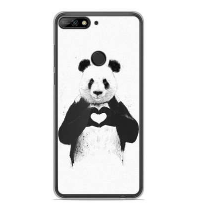 Coque en silicone Huawei Honor 7C - BS Love Panda