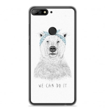 Coque en silicone Huawei Honor 7C - BS We can do it