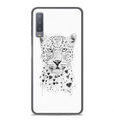 Coque en silicone Samsung Galaxy A7 2018 - BS Love leopard
