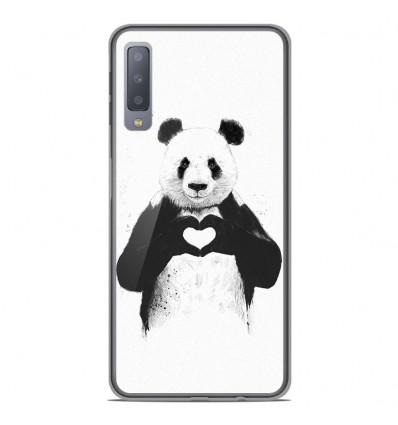 Coque en silicone Samsung Galaxy A7 2018 - BS Love Panda