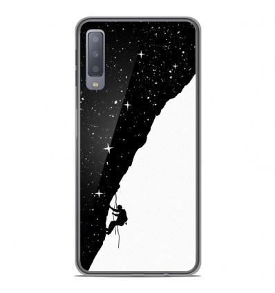 Coque en silicone Samsung Galaxy A7 2018 - BS Nightclimbing