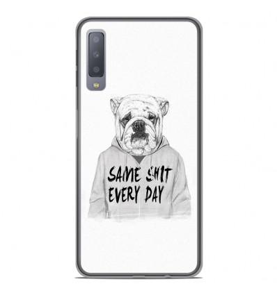 Coque en silicone Samsung Galaxy A7 2018 - BS Same shit