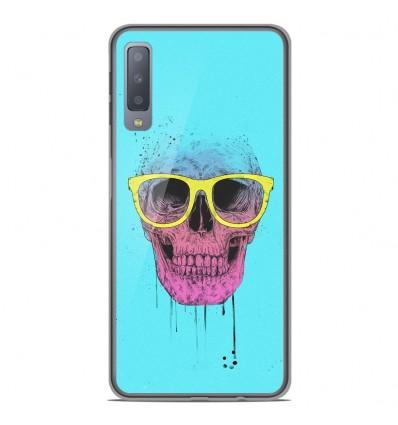 Coque en silicone Samsung Galaxy A7 2018 - BS Skull glasses