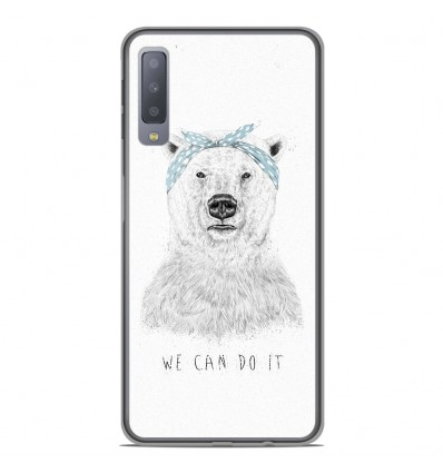 Coque en silicone Samsung Galaxy A7 2018 - BS We can do it