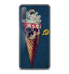 Coque en silicone Samsung Galaxy A7 2018 - Ice cream skull