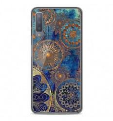 Coque en silicone Samsung Galaxy A7 2018 - Mandalla bleu