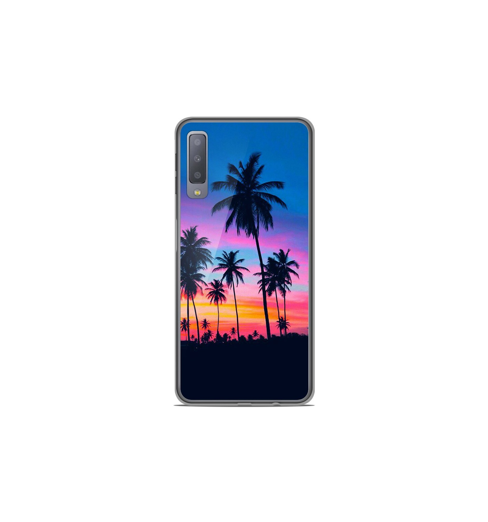 coque gel samsung galaxy a7 2018 lune