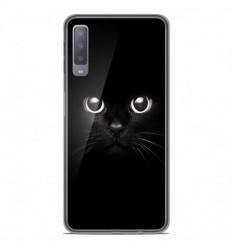 Coque en silicone Samsung Galaxy A7 2018 - Yeux de chat