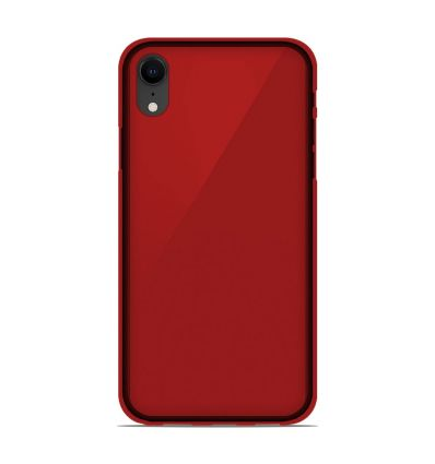 Coque Apple iPhone XR Silicone Gel givré - Rouge Translucide