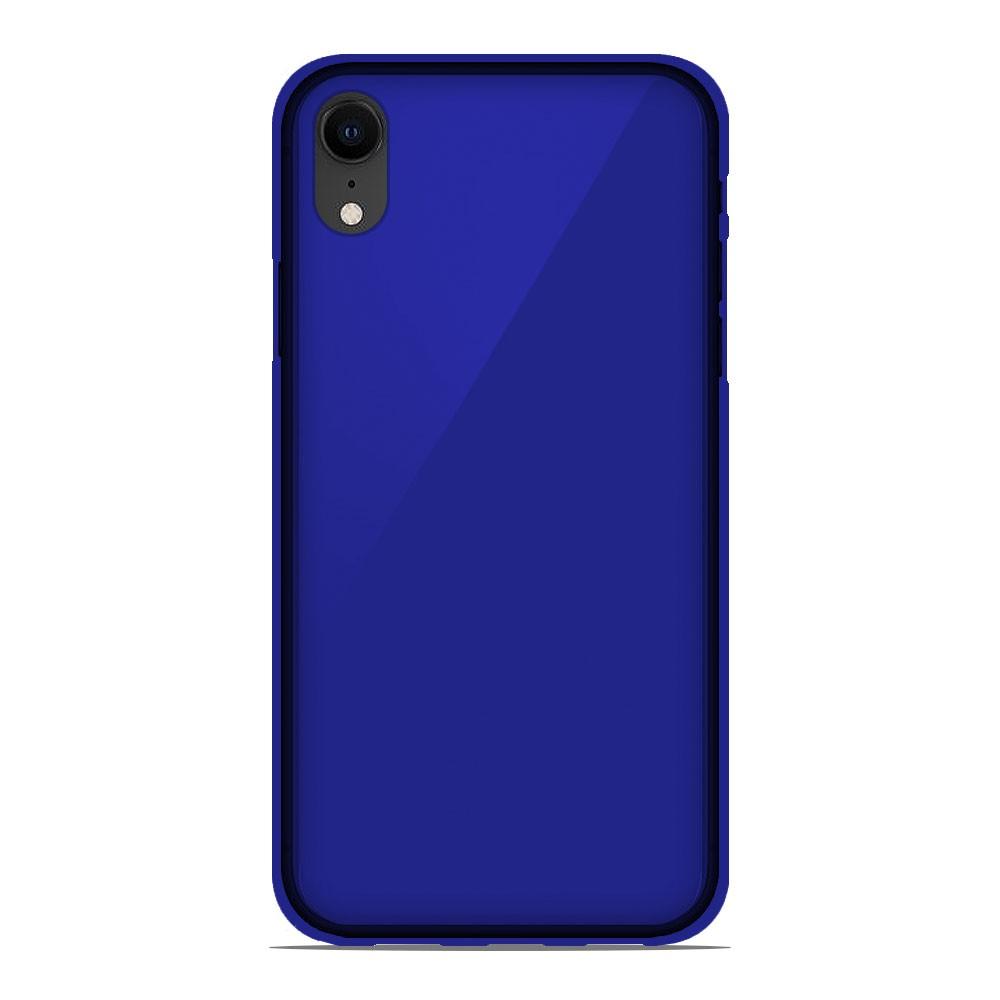 coque iphone xr bleu silicone