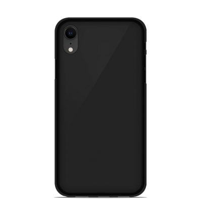 Coque Apple iPhone XS Max Silicone Gel givré - Noir