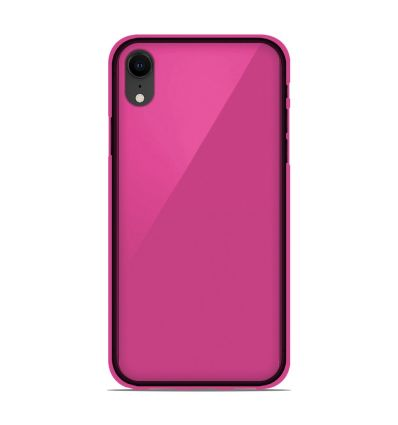 Coque Apple iPhone XS Max Silicone Gel givré - Rose Translucide
