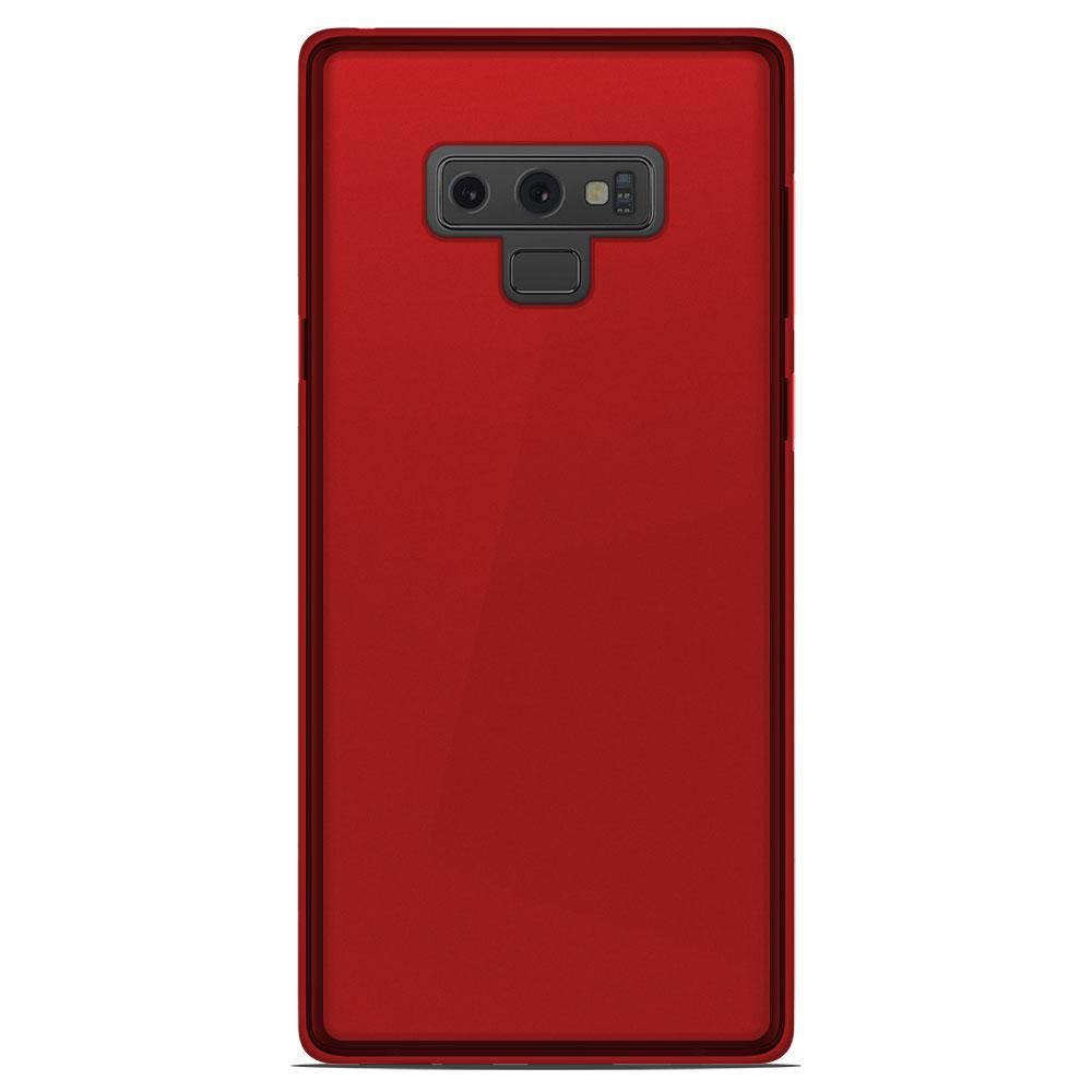 Coque Samsung Galaxy Note 9 Silicone Gel givré - Rouge Translucide