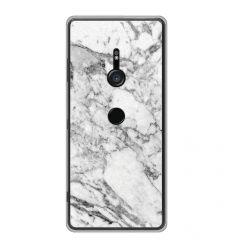 Coque en silicone Sony Xperia XZ3 - Marbre Blanc