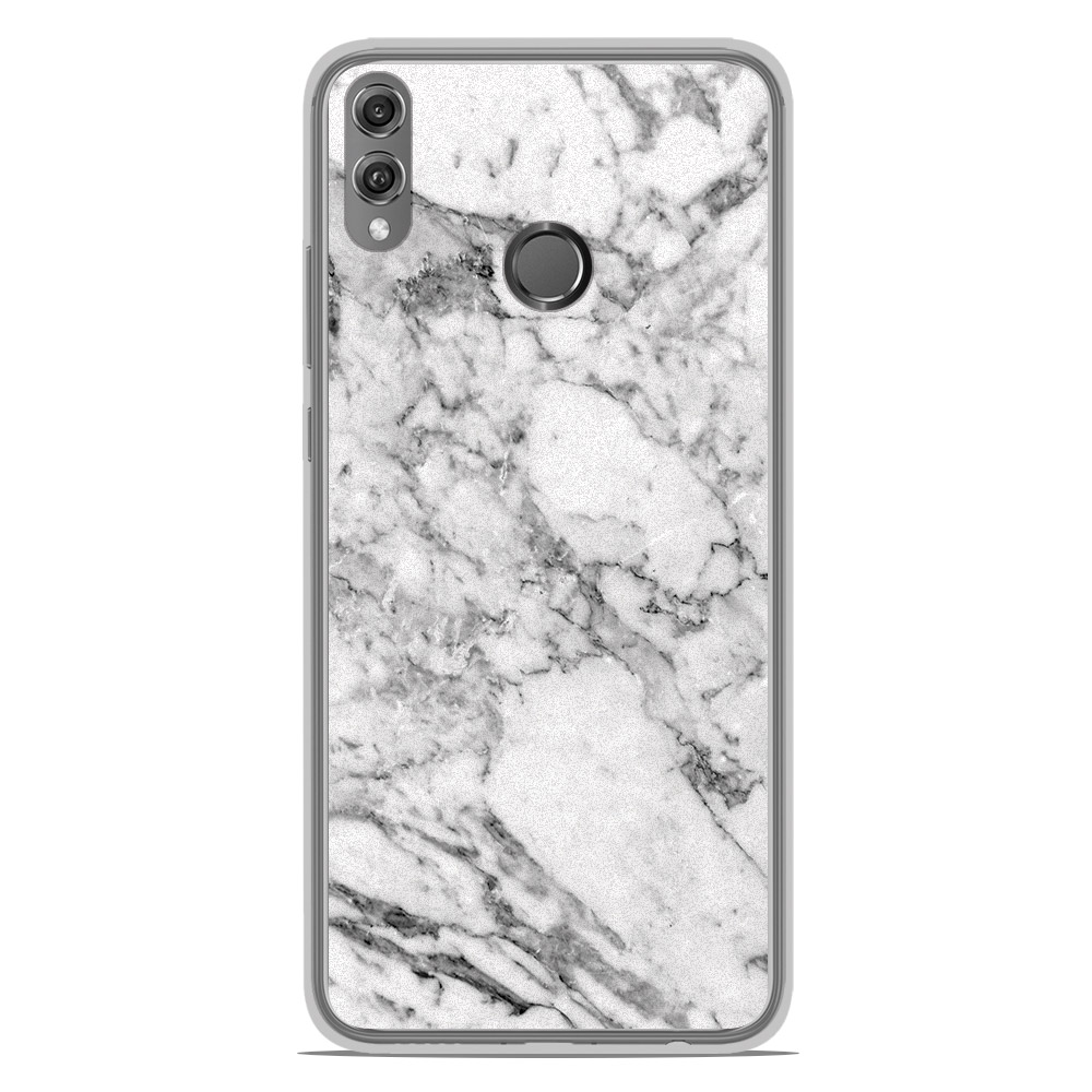 Coque en silicone Huawei Honor 8X - Marbre Blanc