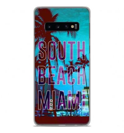 Coque en silicone Samsung Galaxy S10 - South beach miami