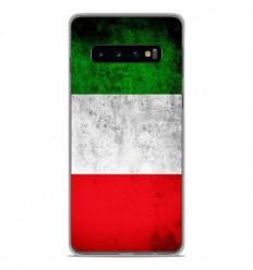 Coque en silicone Samsung Galaxy S10 - Drapeau Italie
