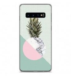 Coque en silicone Samsung Galaxy S10 - Ananas marbre