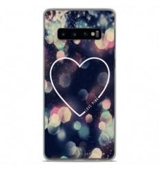 Coque en silicone Samsung Galaxy S10 - Coeur Love