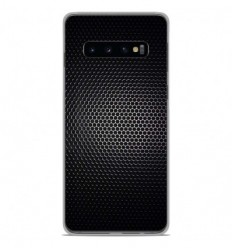 Coque en silicone Samsung Galaxy S10 - Dark Metal