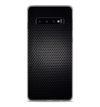 Coque en silicone Samsung Galaxy S10 - Dark Metal