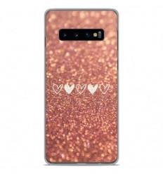 Coque en silicone Samsung Galaxy S10 - Paillettes coeur