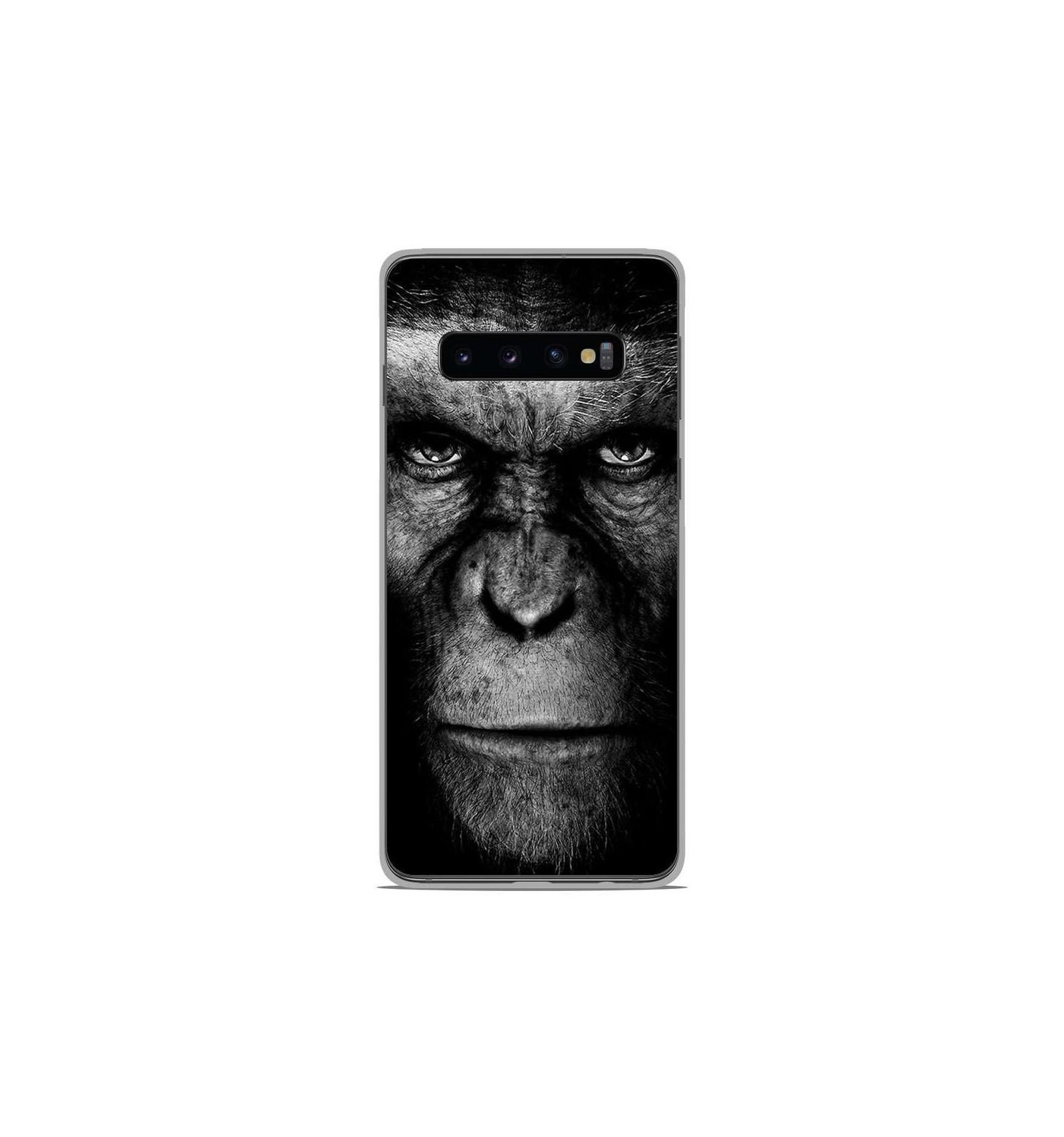 Coque en silicone Samsung Galaxy S10 - Singe