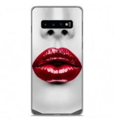 Coque en silicone Samsung Galaxy S10 - Lèvres Rouges