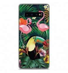 Coque en silicone Samsung Galaxy S10 - Tropical Toucan