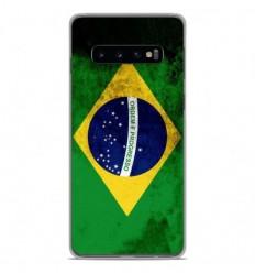 Coque en silicone Samsung Galaxy S10 Plus - Drapeau Brésil