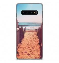 Coque en silicone Samsung Galaxy S10 Plus - Chemin de plage