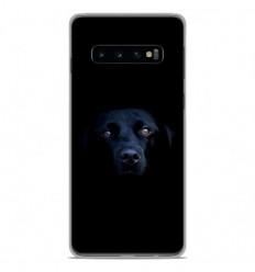 Coque en silicone Samsung Galaxy S10 Plus - Chien noir