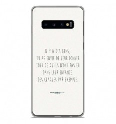 Coque en silicone Samsung Galaxy S10 Plus - Citation 01